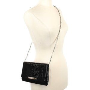 Banana Republic Black Clutch with Removable Chain